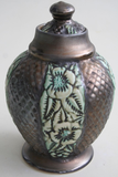 Porcelain Urn with Wild Roses Carving