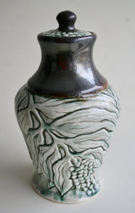 Porcelain Urn with Solomon's Seal Carving
