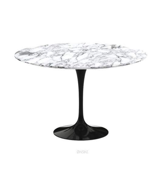 Arabescato Marble Tulip Dining Table in Choice of Size - Onske