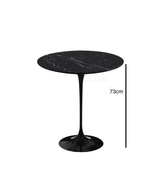 Nero Marquina Marble Bistro Table For Two Choice of Size - Onske