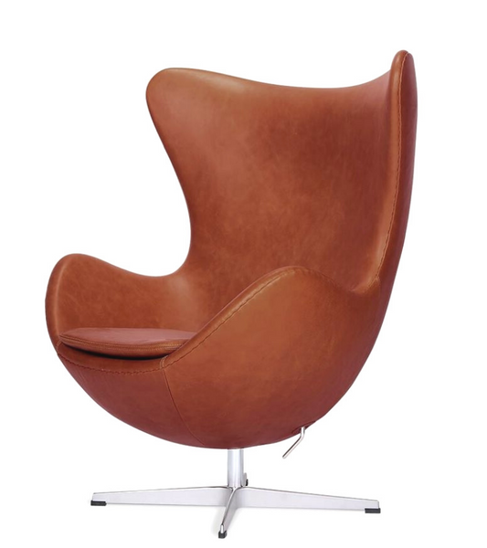 Leather Egg Chair Arne Jacobsen Style Leather Egg Chair in Premium Aniline - Onske