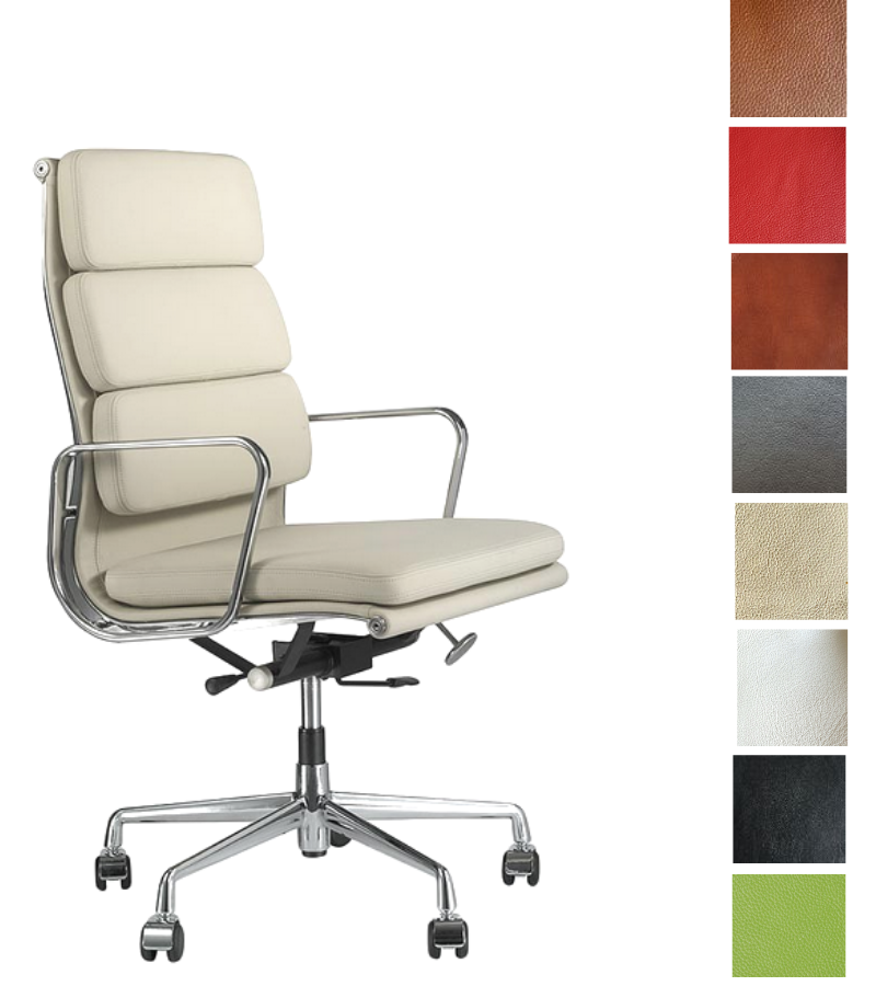 High Back Executive EA 219 Style Office Chair Full Leather - Onske