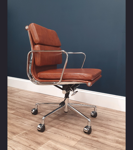 Tan Leather Office Chair  EA 217 Executive Style