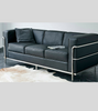 LC2 Three Seat Sofa Corbusier Style in Full Leather - Onske