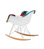 Modern Patchwork Rocking Chair inspired by Eames RAR - Onske  - 3