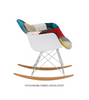 Modern Patchwork Rocking Chair inspired by Eames RAR - Onske  - 2