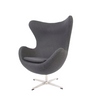 Dark Grey Cashmere Egg Chair Arne Jacobsen Style - onske-2