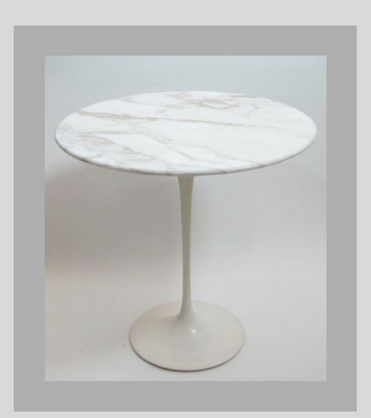 Tulip Marble Bistro Table 70cm Seats Two