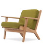 GE290 Plank Chair in Ash Wood Wegner Style - onske-2