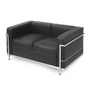 Full Italian Leather Two Seat Loveseat Sofa Corbusier LC2 style - Onske  - 1