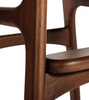 Erik Buch Style Bar Stool in Walnut and Full Leather - Onske