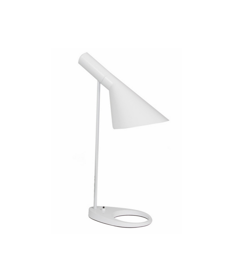 White AJ Table Lamp inspired by Arne Jacobsen