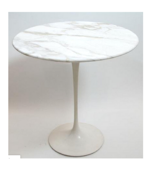 Carrara White Marble Side Table - Onske