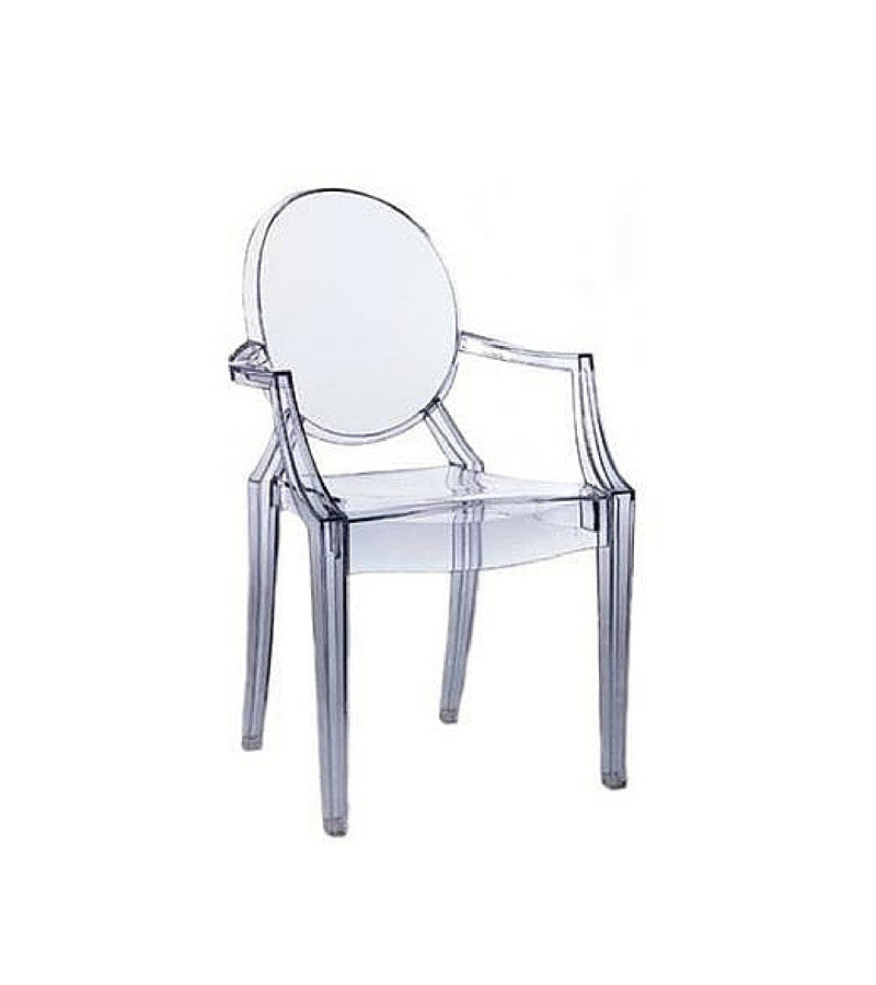 Louis Ghost Style Armchair Clear Perspex - Onske