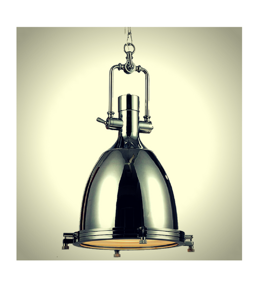 Limehouse Antique Brass Industrial Pendant Light - Onske  - 2