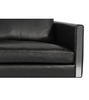 Meridian Sofa in Aniline Leather and Polished Steel