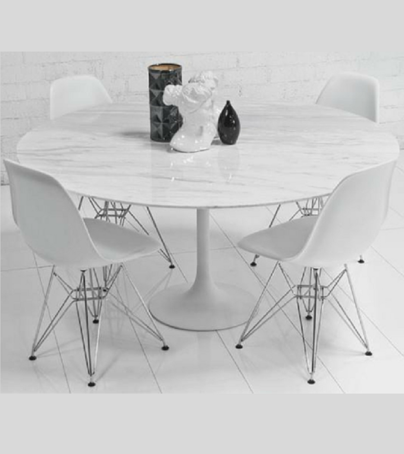 Marble Tulip Dining Table Italian Carrara Marble