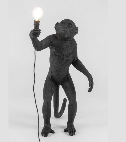 Standing Black Monkey Light by Seletti - Onske