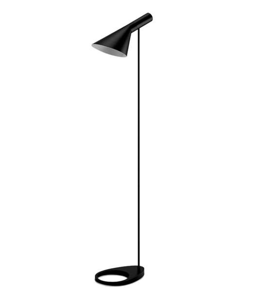 Arne Jacobsen Style Black Floor Lamp - Onske