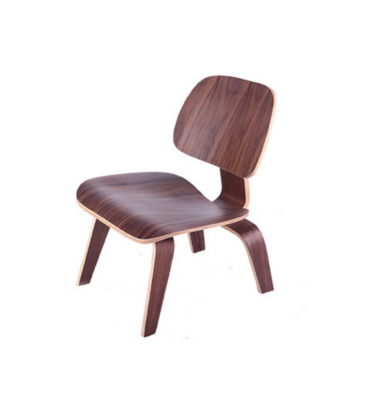 L C W Low Chair Wood in American Walnut - Onske