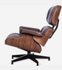 Waxed Leather Midcentury 670 Style Chair and Ottoman - Onske