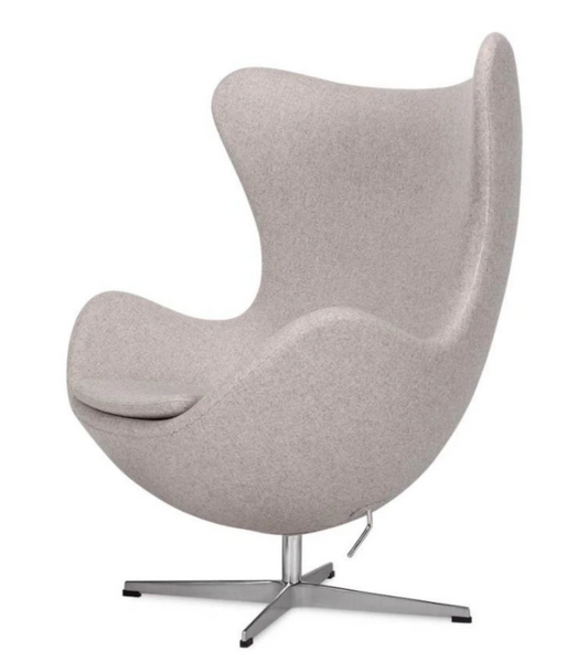Egg Chair Arne Jacobsen Style Premium Wheat Cashmere
