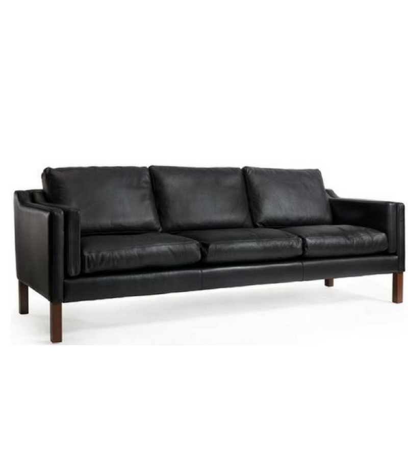 Borge Mogensen 2213 style sofa in Italian Leather - Onske  - 1
