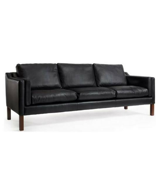 Borge Mogensen 2213 style sofa in Italian Leather - onske-2