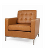 Premium Leather Knoll style Armchair - Onske