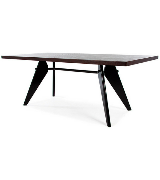 EM Table Walnut Finish Jean Prouve style - Onske
