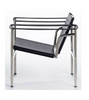 LC1 Basculant Chair Corbusier Style Black White Pony Hide - Onske