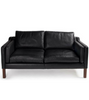 Two Seat Sofa in Italian Leather Borge Mogensen 2212 style - Onske  - 1