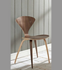 American Walnut Finish Norman Cherner Style Dining Chair