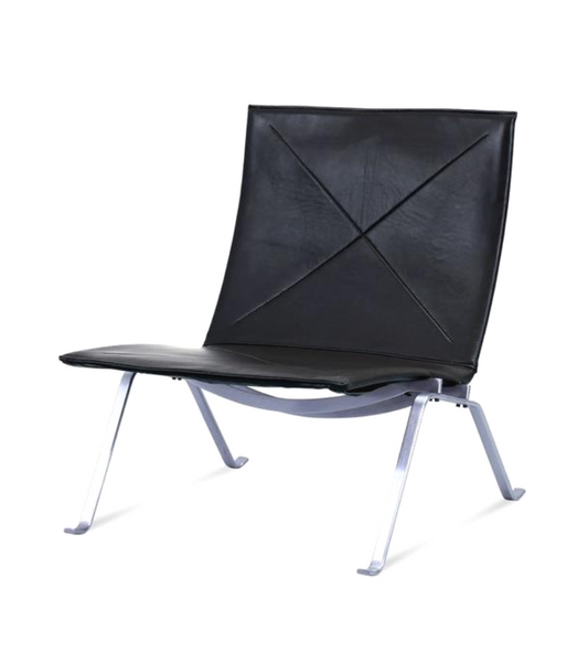 PK22 Chair in Italian Leather Poul Kajerhom Style