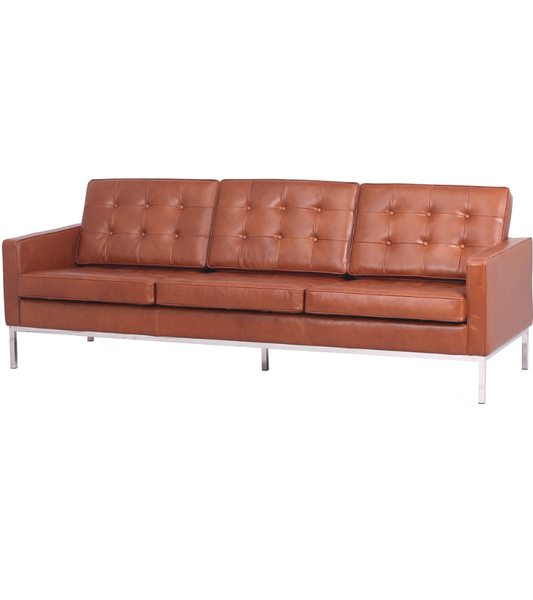 Knoll style Sofa in Premium Leather - onske-2