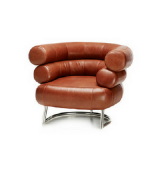 Italian Leather Art Deco Bibendum style Armchair