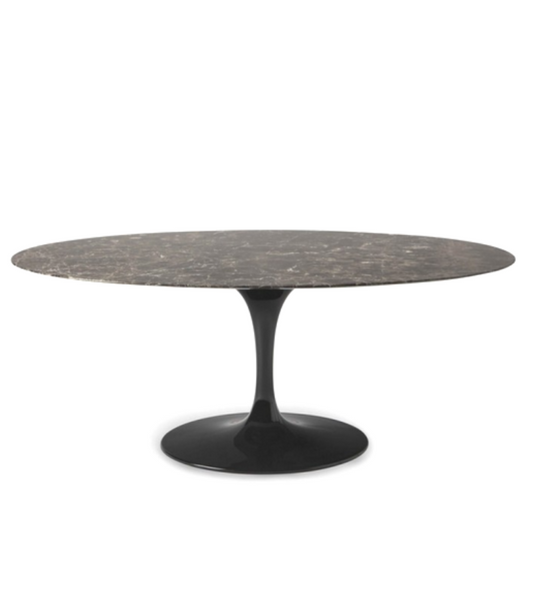 Emperador Brown Marble Tulip Dining Table - Onske