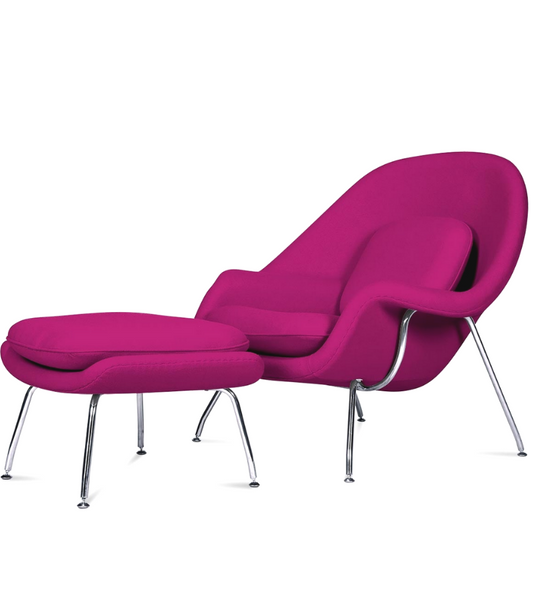 Womb Chair Model 70 Saarinen Style in Premium Fabric