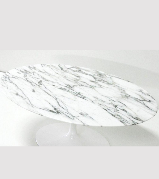 Arabescato Oval Marble Dining Table 170cm