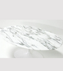 Arabescato Oval Marble Dining Table 170cm - Onske