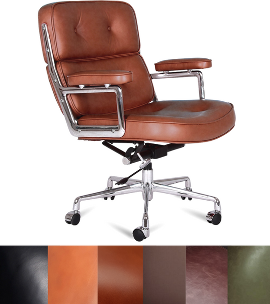 ES 104 Style Lobby Chair Full Leather Premium Range