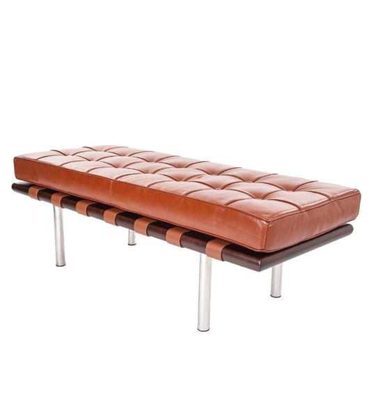 Barcelona Two Seat Bench in Premium Leather - Onske
