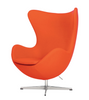 Arne Jacobsen Style Egg Chair in 100% Cashmere Wool - Onske