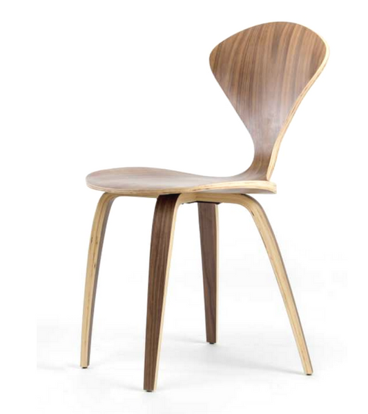 Norman Cherner Style Side Chair Walnut - Onske
