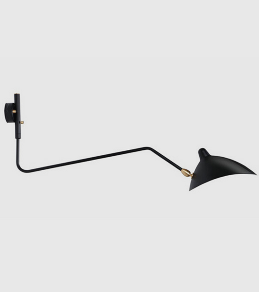 Serge Mouille Style One Arm Rotating Wall Lamp - Onske