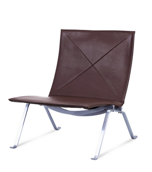 PK22 Chair Poul Kajerhom Style in Premium Leather - Onske