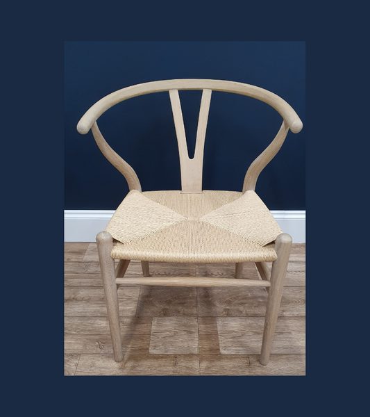 Wishbone CH24 style chair in Soaped Oak - Onske