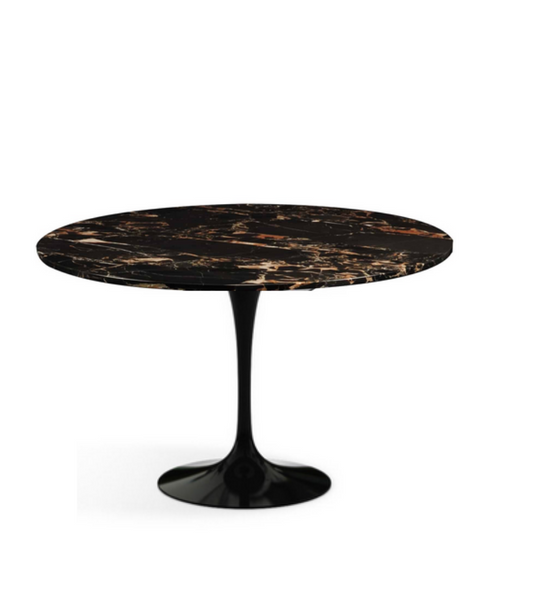 Portoro Black and Gold Marble Side Table - Onske