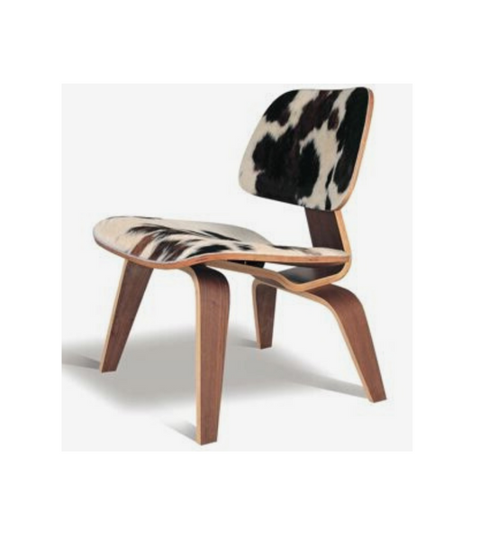 L C W Style Chair Cowhide with Walnut - Onske