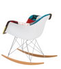 Patchwork Rocking Chair Midcentury Style - Onske